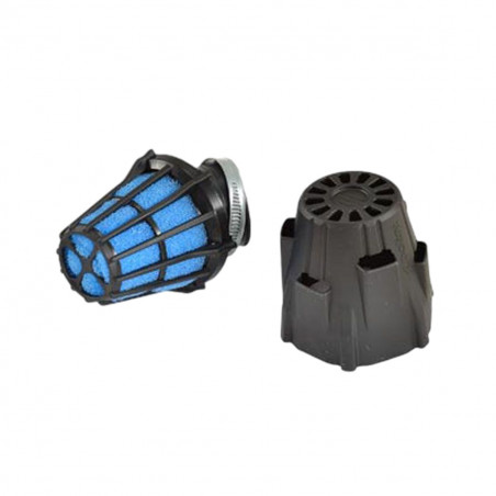 Filtre à Air PHBG Racing - POLINI Blue Air Box 37mm coudé 30 degrés