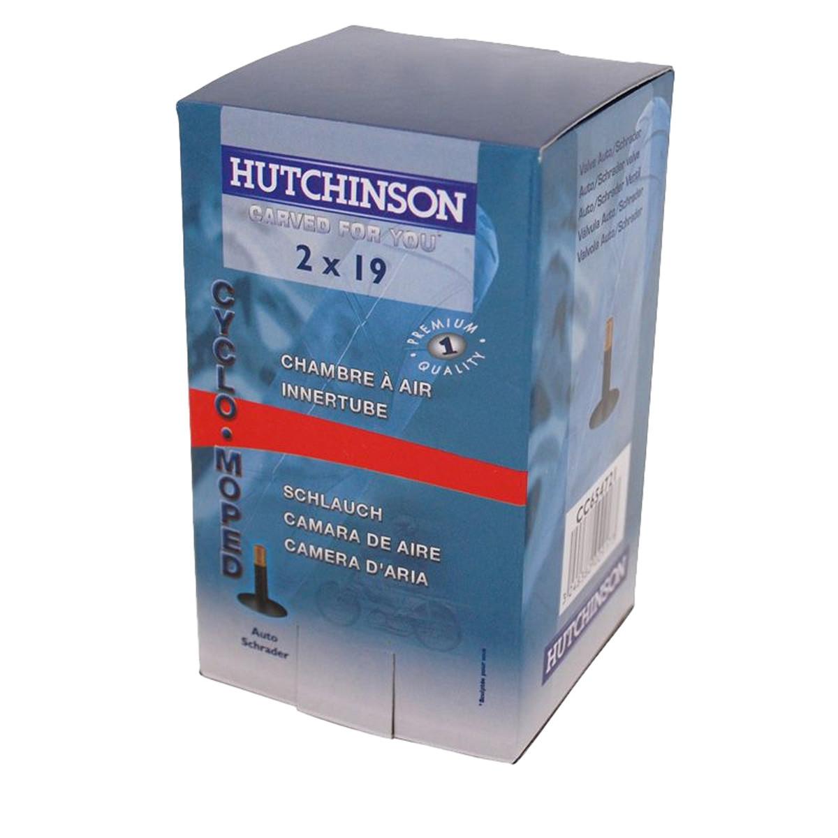 Chambre air 19 pouces hutchinson 2x19 valve schrader for Chambre air 13 pouces