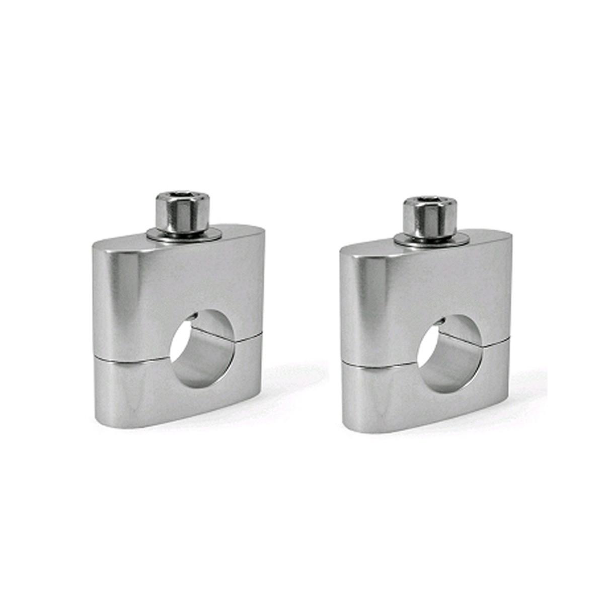 Pontets de Guidon Complet Ø22mm - TNT Silver