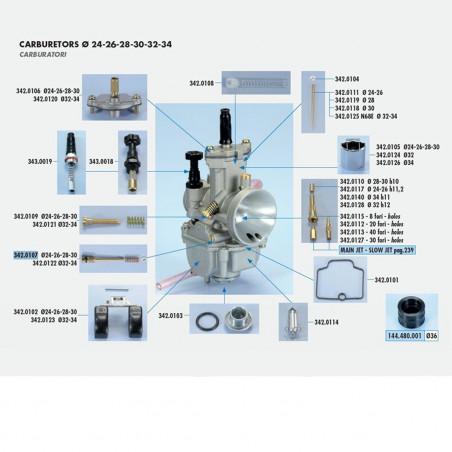 Vis d'air / richesse carburateur PWK - POLINI 24 à 30mm