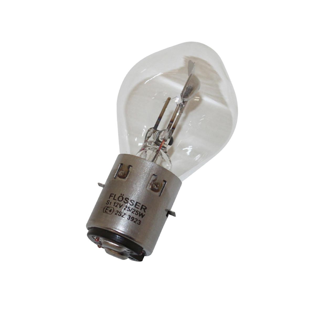 Ampoule 12V 25/25W BA20D S2 - FLOSSER Blanc