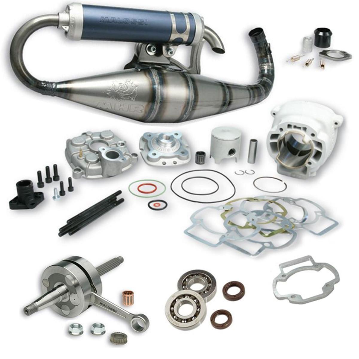 Pack Moteur & Pot 86cc LC PIAGGIO - MALOSSI MHR Big Bore Team Factory
