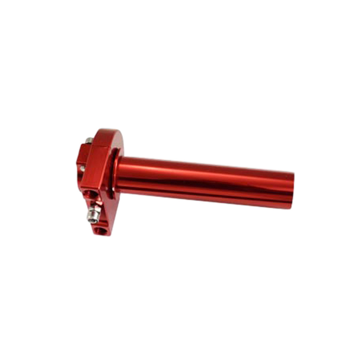 Poignée Gaz Tirage rapide Alu CNC - TUN'R Rouge