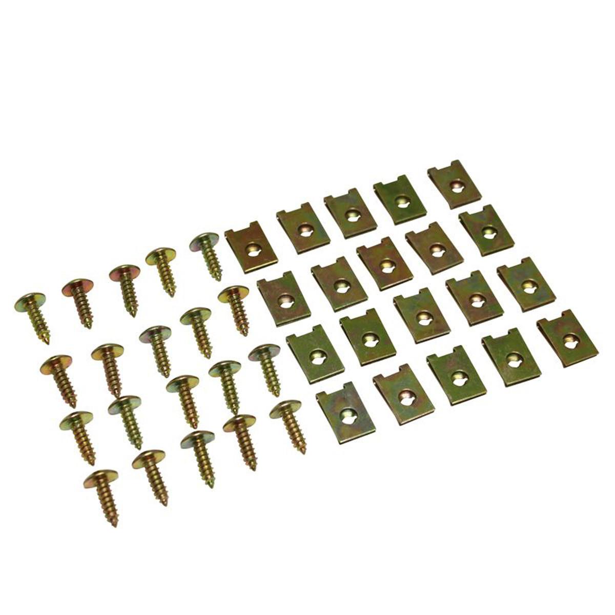Jeu de 20 Vis & Agrafes pour Carrosserie - D.5x15mm
