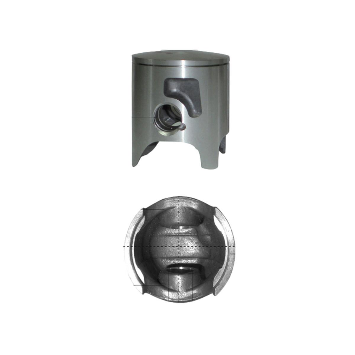 Piston DERBI E2 E3 D.49.94mm à 49.96mm - BARIKIT Racing Monosegment 0.8mm Latéral