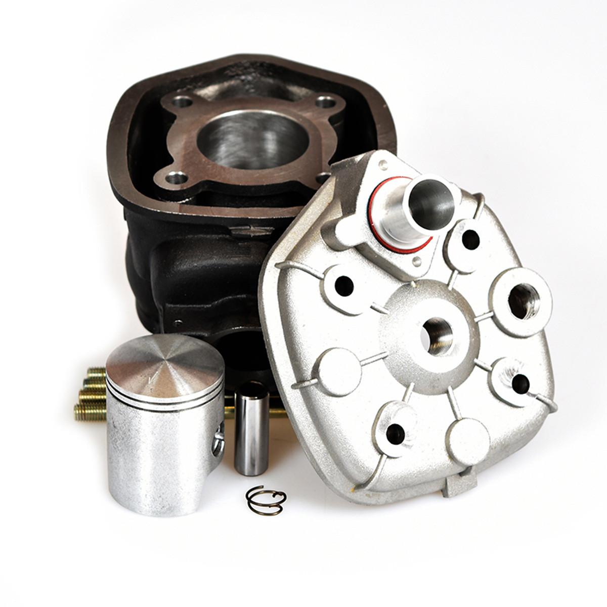 Kit Haut Moteur 50cc DERBI E3 - MVT IRON MAX Fonte Culasse Grise ou Jaune