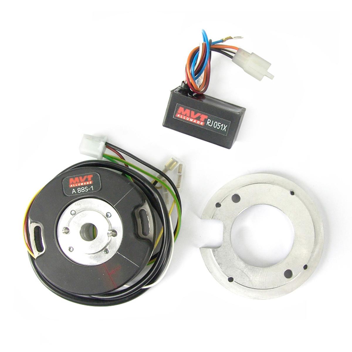 Allumage PEUGEOT 103 SP MVL 6V à rupteur - MVT Premium Rotor Interne Analogique avec lumière PREM02