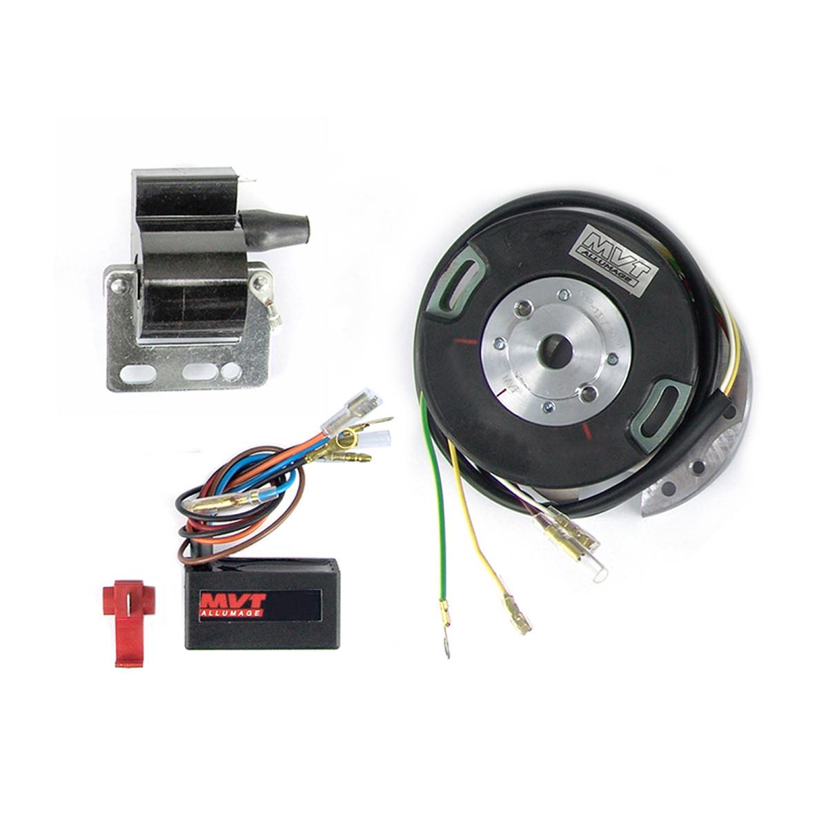 Allumage Yamaha DT50 RD50 TY50 DT / RD80 - MVT Premium Rotor Interne Analogique avec lumière PREM26