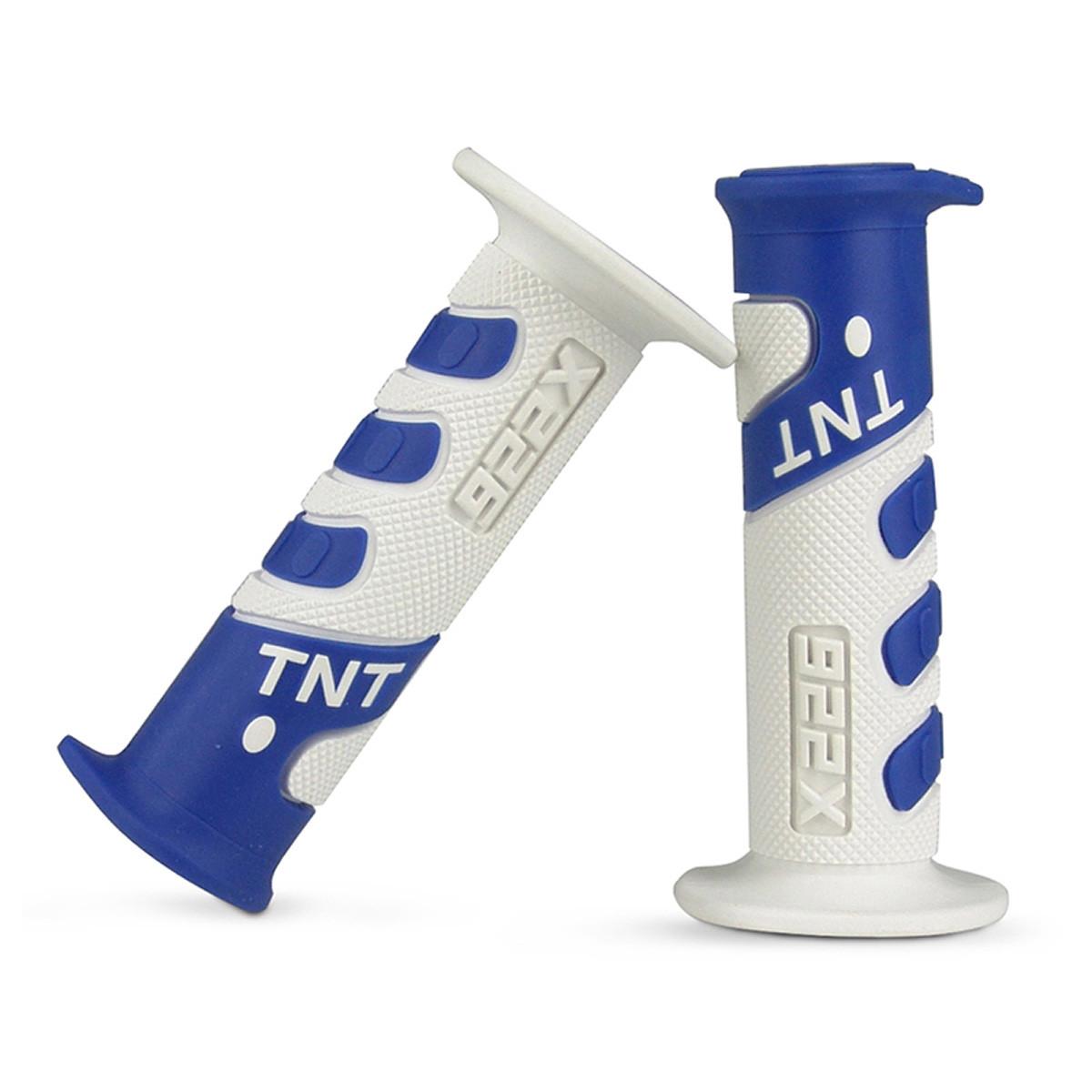 Poignées de Guidon - TNT 922X Blanc / Bleu