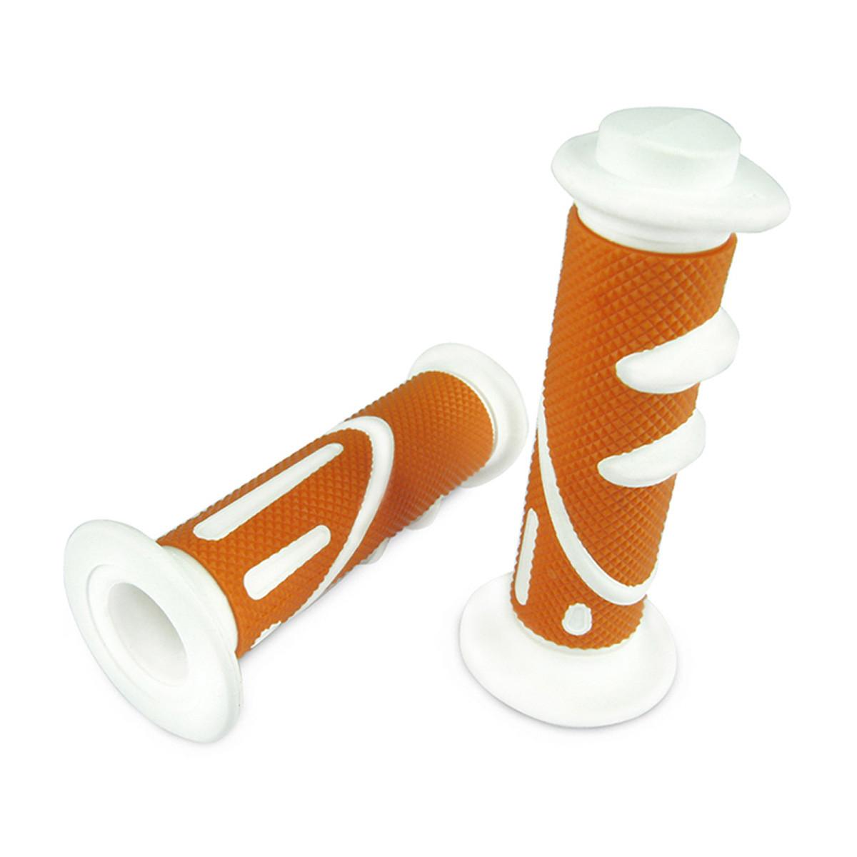 Poignées de Guidon - TNT Cool Orange / Blanc