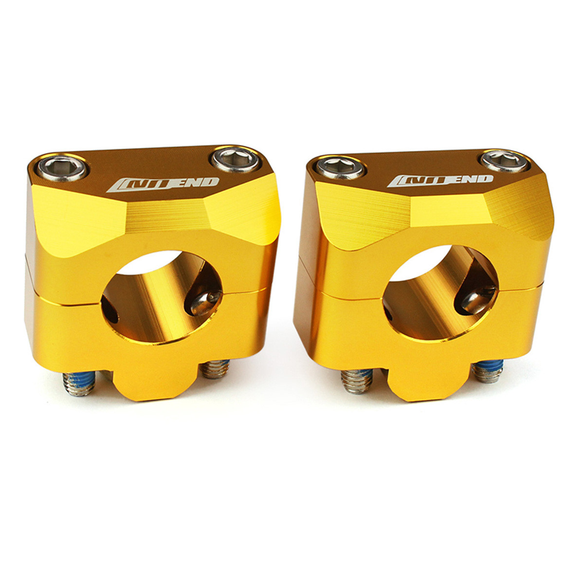 Pontets de Guidon 28.6mm - NO END Or Anodisé