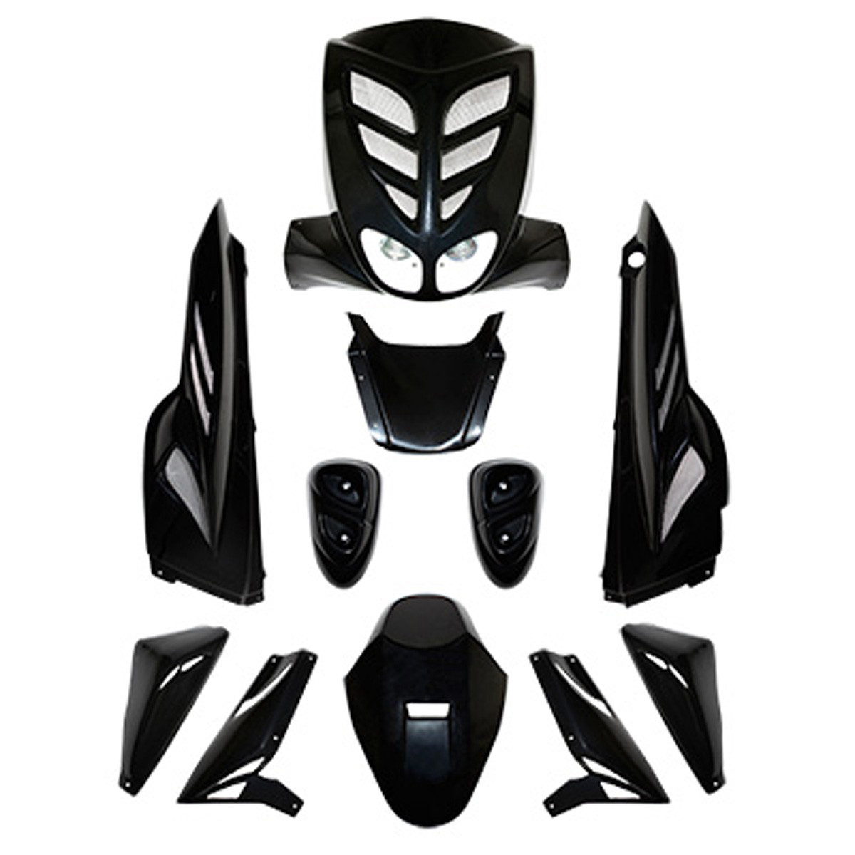 Kit Carénages MBK Stunt Yamaha Slider - BCD Xtrem Noir
