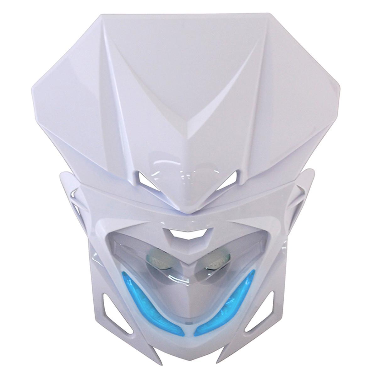 Tête de Fourche / Plaque phare - RR8 2x20w Blanc à Leds bleus