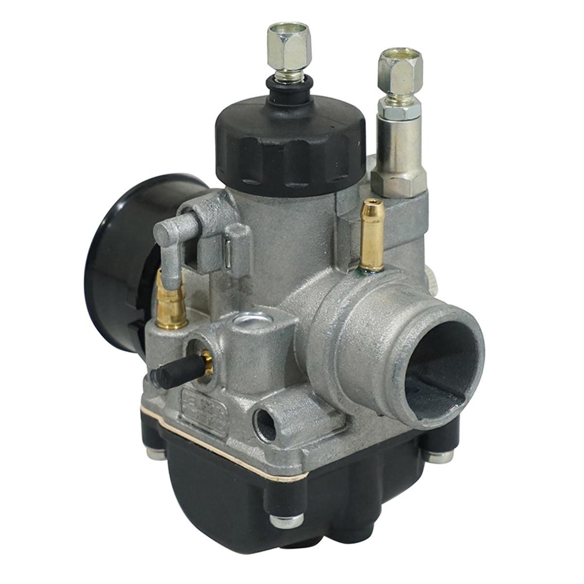 Carburateur 19mm PHBG DS - Dellorto Montage souple / Starter à câble / dépression / Graissage séparé / Couvercle Rond