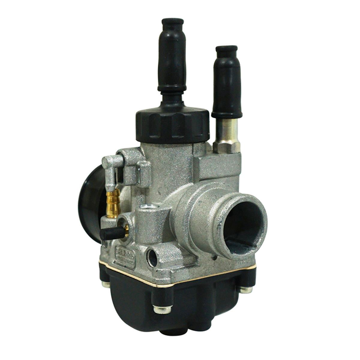 Carburateur 19mm PHBG DS - Dellorto Montage souple / Starter à câble / Graissage séparé / Couvercle Rond
