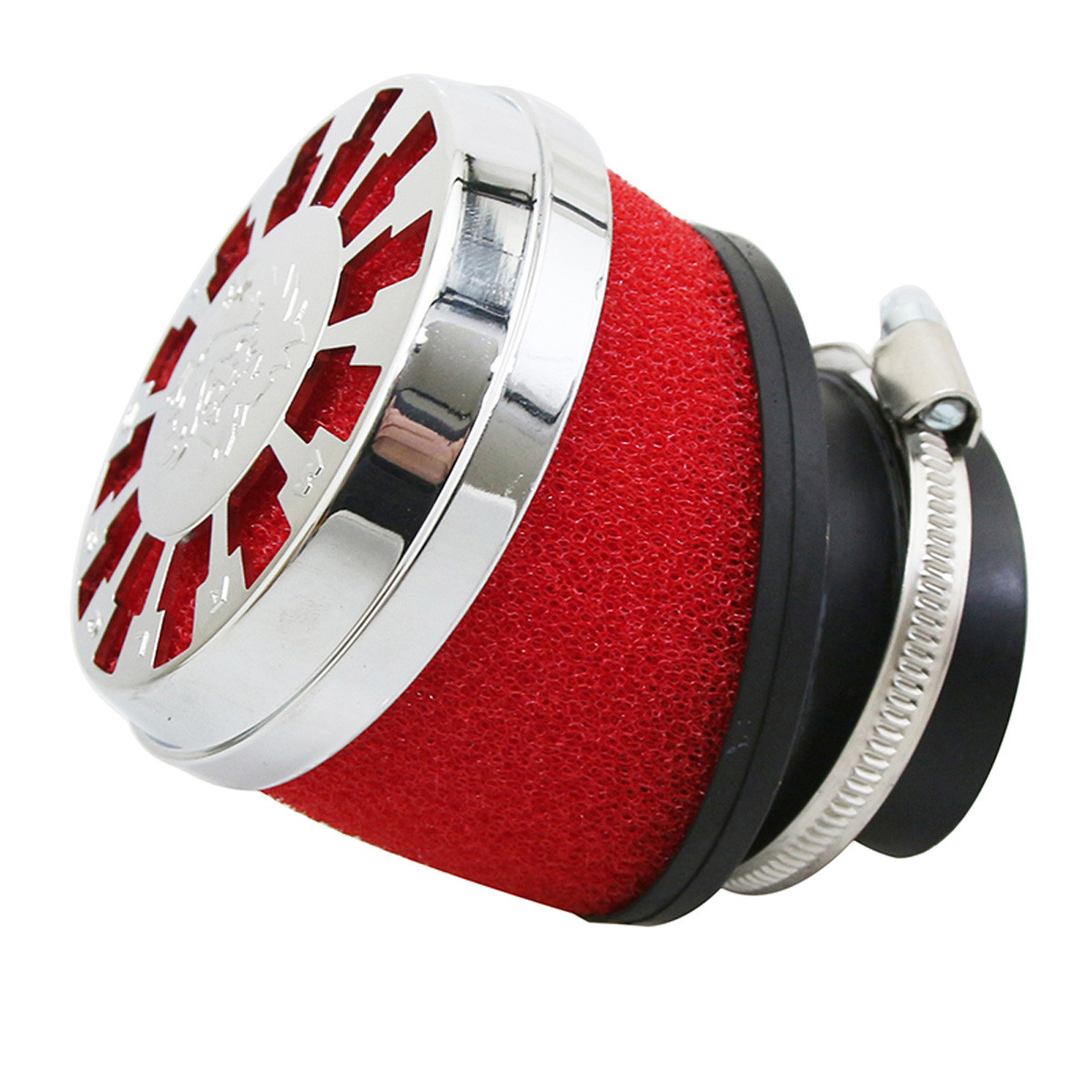 Filtre à Air PHBH PWK - Malossi Red Filter E13 42 / 50 / 60mm coudé 25 degrés