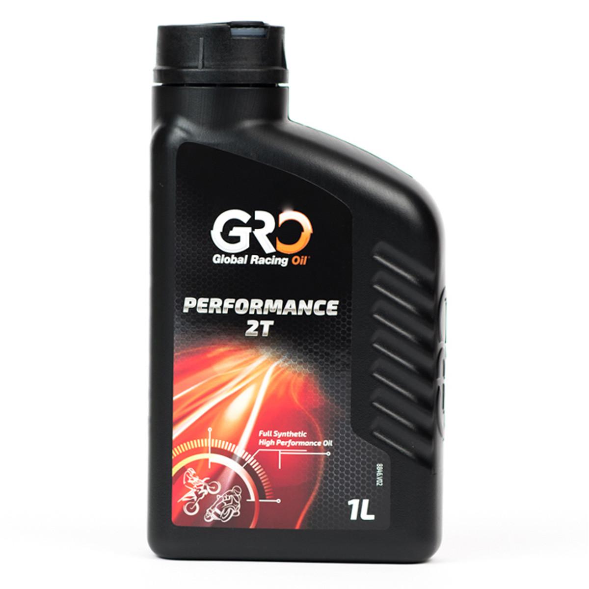 Huile Moteur 2T Performance - Global Racing Oil 100% Synthèse 1L Pré-mix / graissage séparé