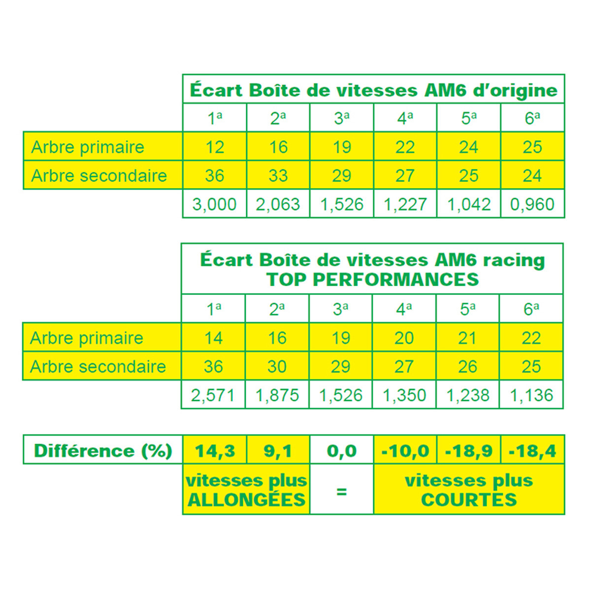 Boite de Vitesse AM6 - TOP PERF