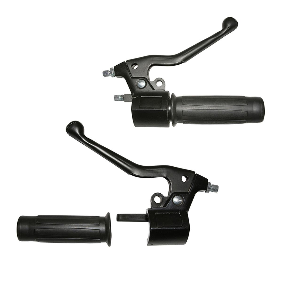 Kit Leviers Frein / Gaz MBK Motobecane Motoconfort - Levier métal
