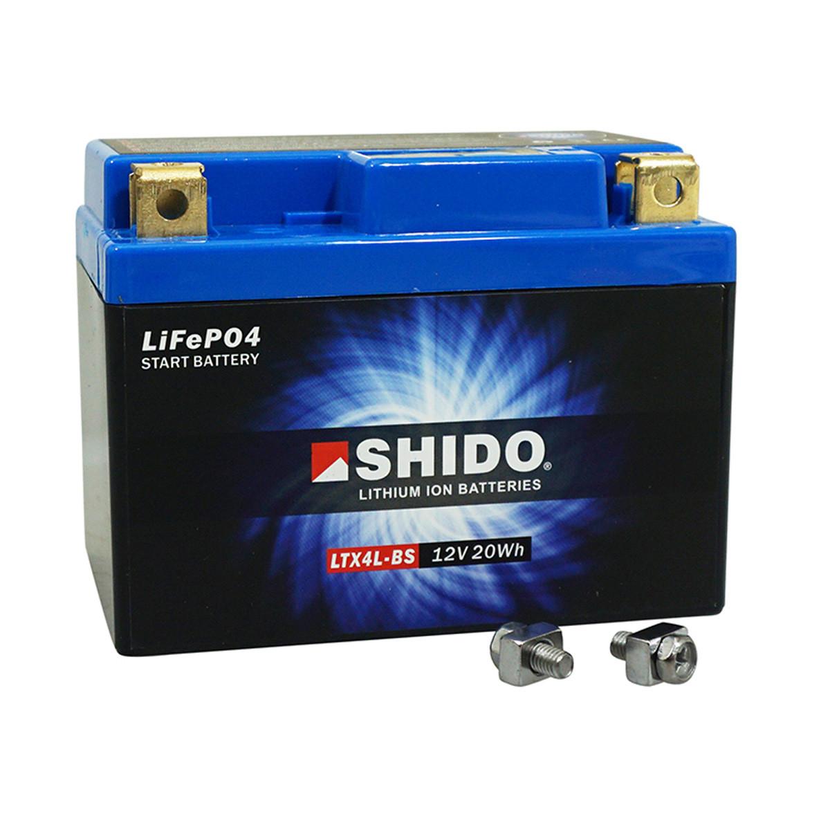 Batterie 12V 1.6 Ah YTX4LBS - SHIDO Lithium-ion Prêt à l'emploi / Sans entretien
