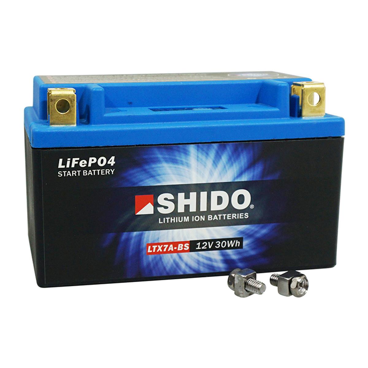 Batterie 12V 2.4 Ah LTX7A-BS - SHIDO Lithium-ion Prêt à l'emploi / Sans entretien