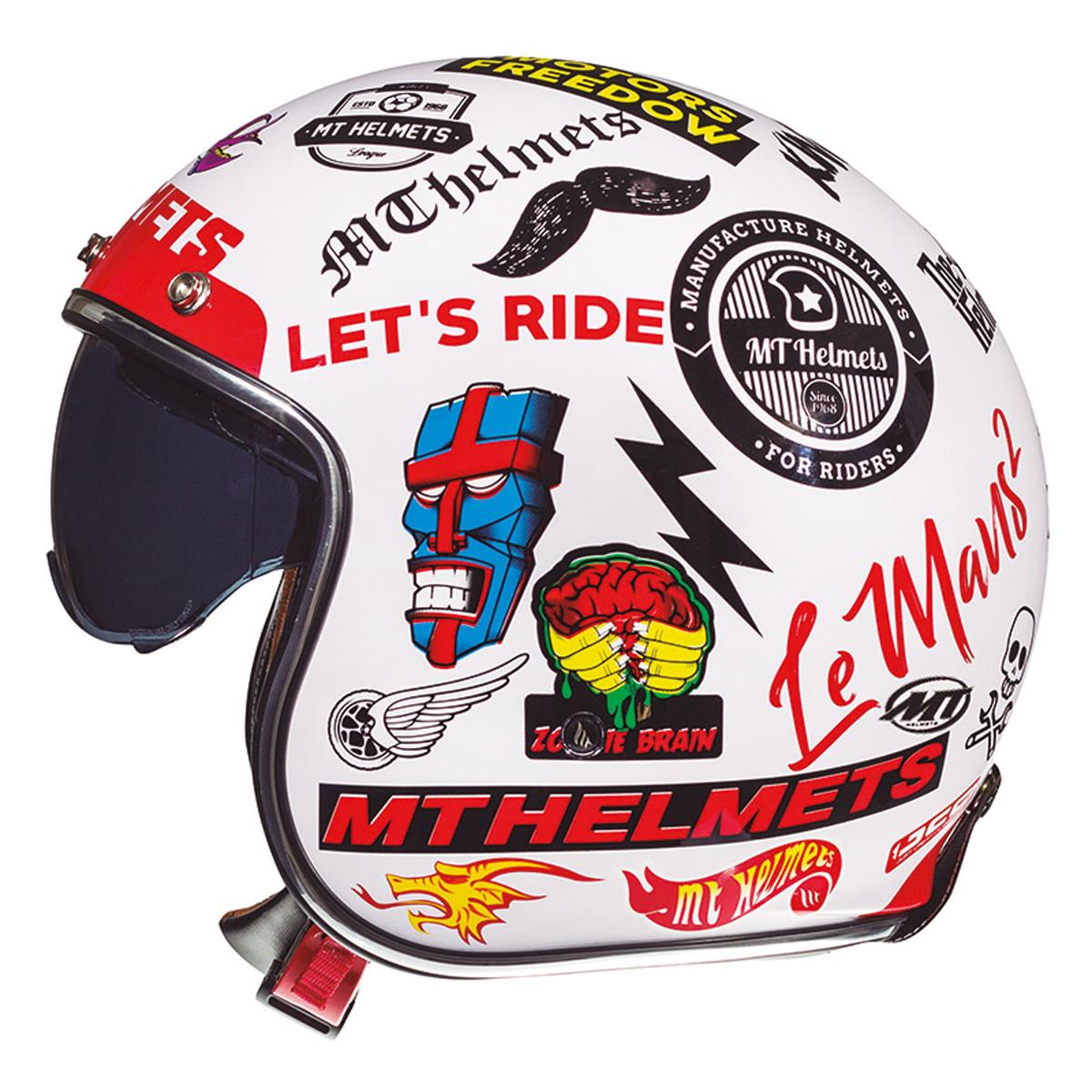 Casque Jet - MT Le Mans 2 SV Anarchy Blanc
