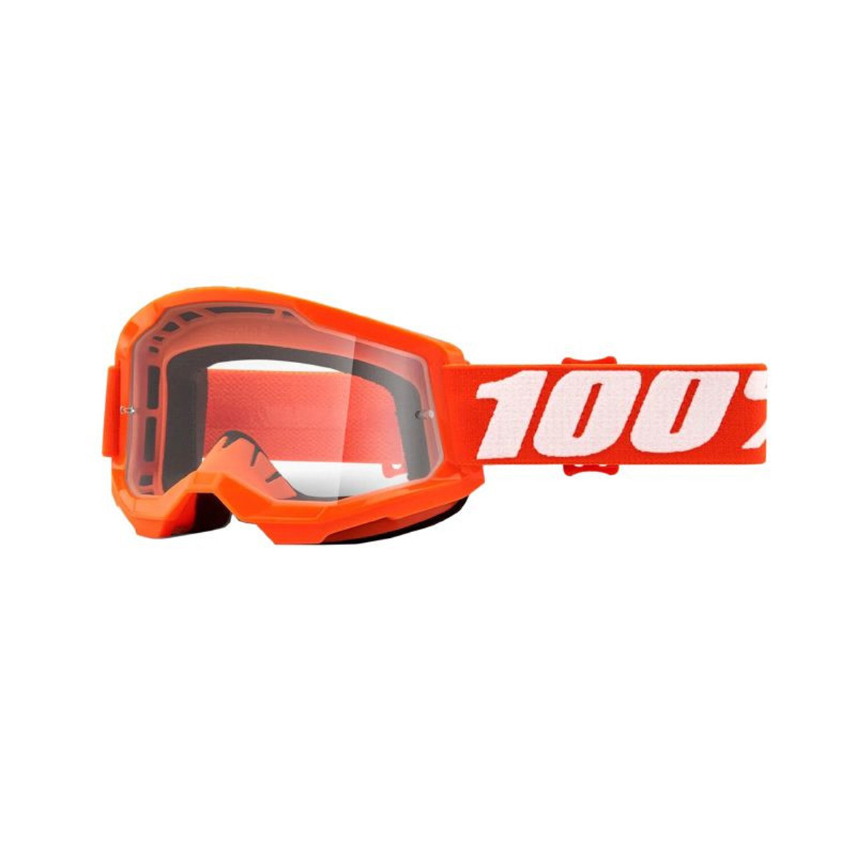 Masque / Lunettes Cross - 100% Strata 2 Essentiel Orange Ecran Transparent