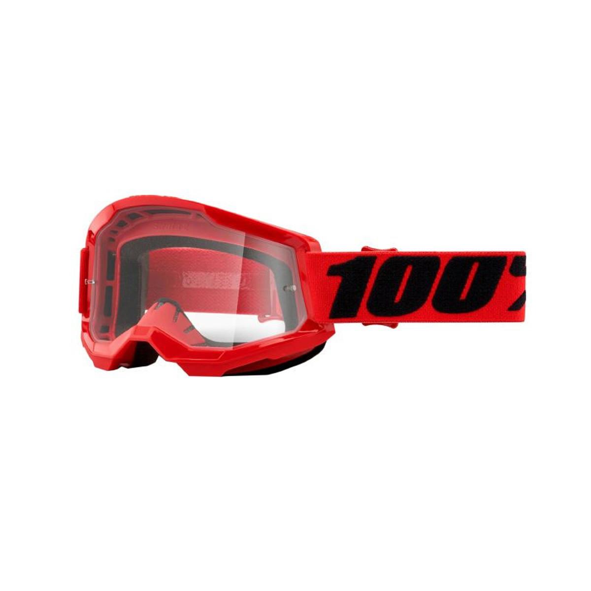 Masque / Lunettes Cross - 100% Strata 2 Essentiel Rouge Ecran Transparent