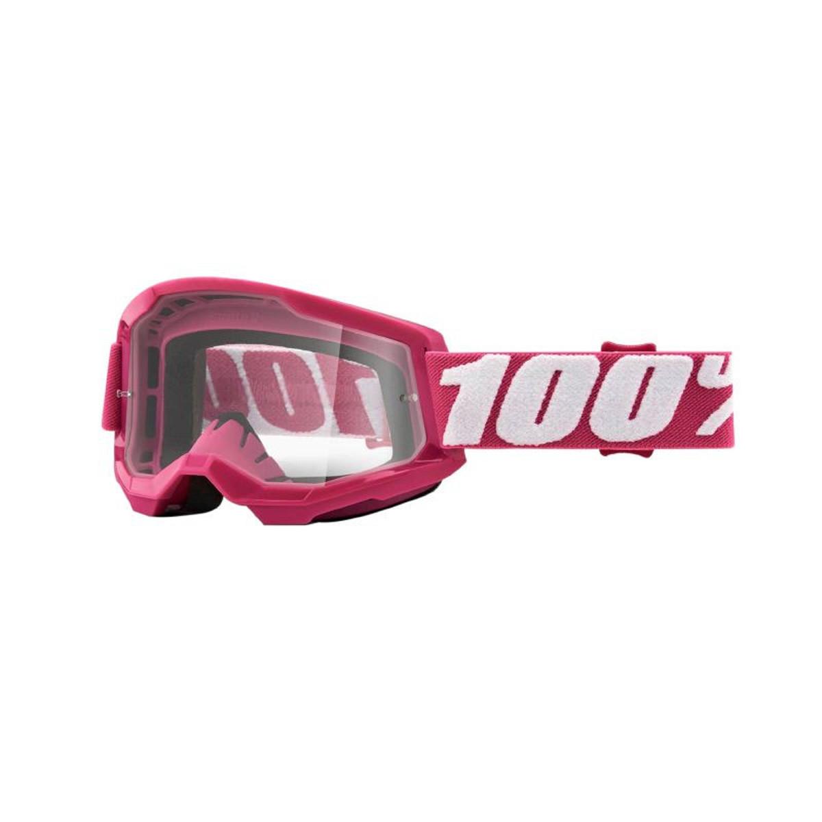 Masque / Lunettes Cross - 100% Strata 2 Fletcher Rose Ecran Transparent