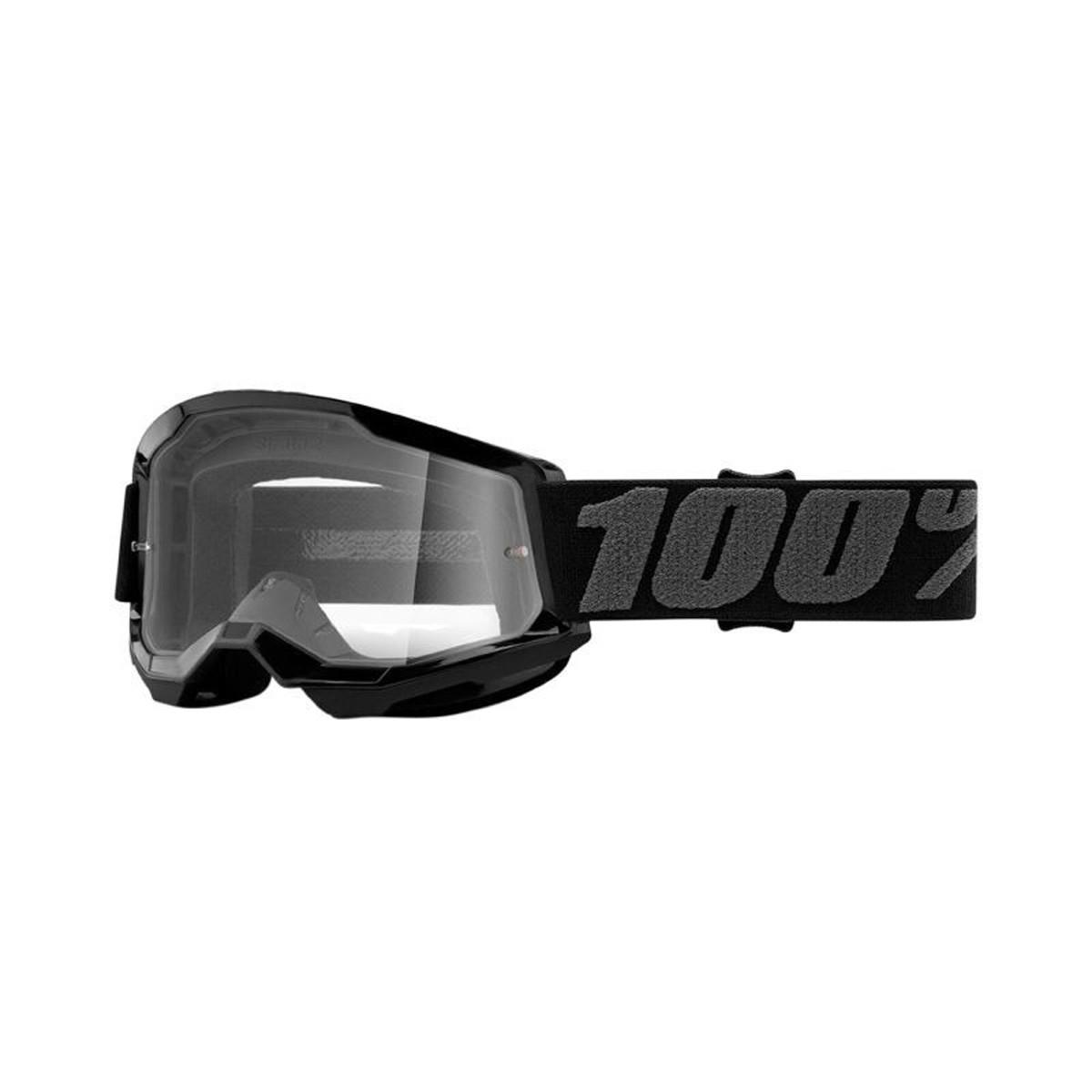 Masque / Lunettes Cross - 100% Strata 2 Junior Noir Ecran Transparent