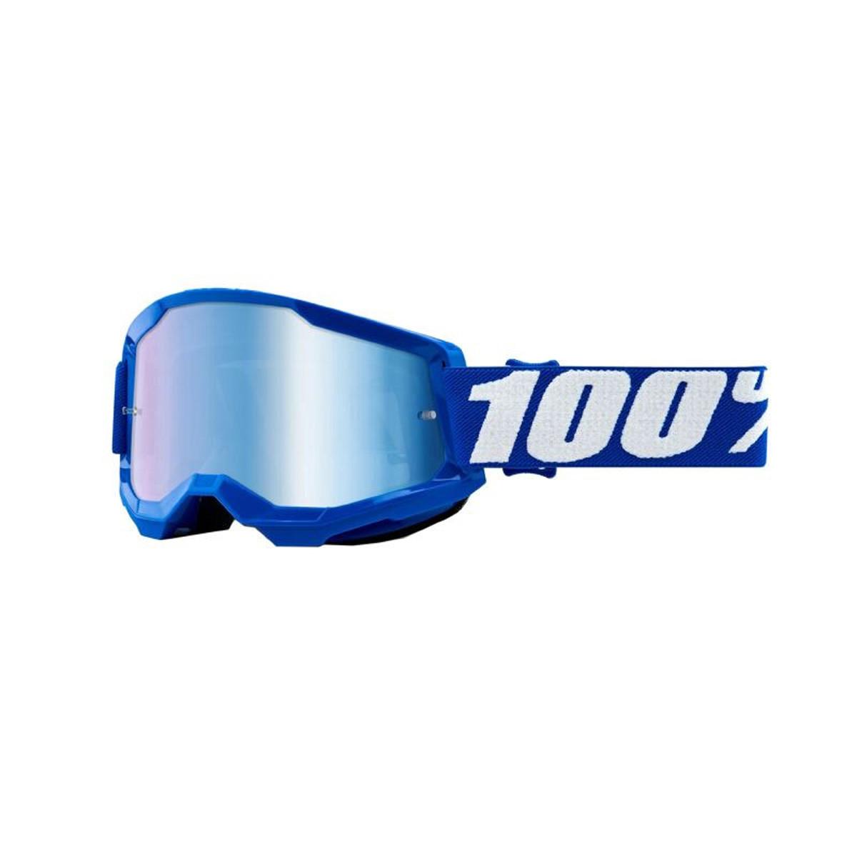 Masque / Lunettes Cross - 100% Strata 2 Essential Bleu Ecran Transparent