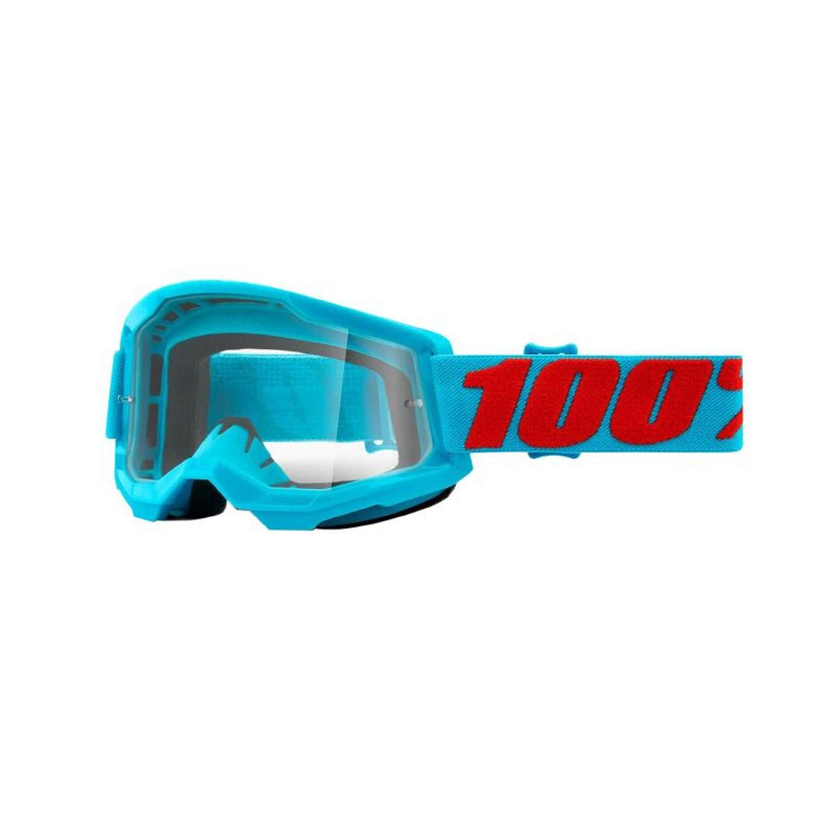 Masque / Lunettes Cross - 100% Strata 2 Summit Bleu Ecran Transparent