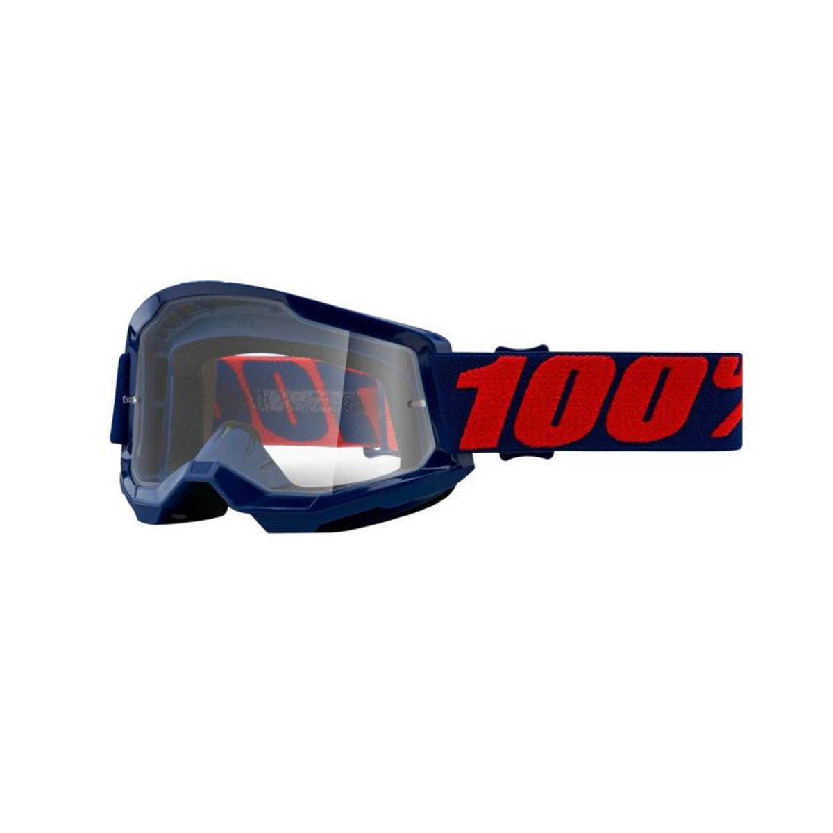 Masque / Lunettes Cross - 100% Strata 2 Masego Bleu Ecran Transparent
