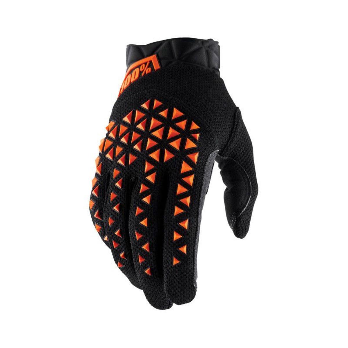 Gants Cross - 100% Airmatic / Noir / Orange