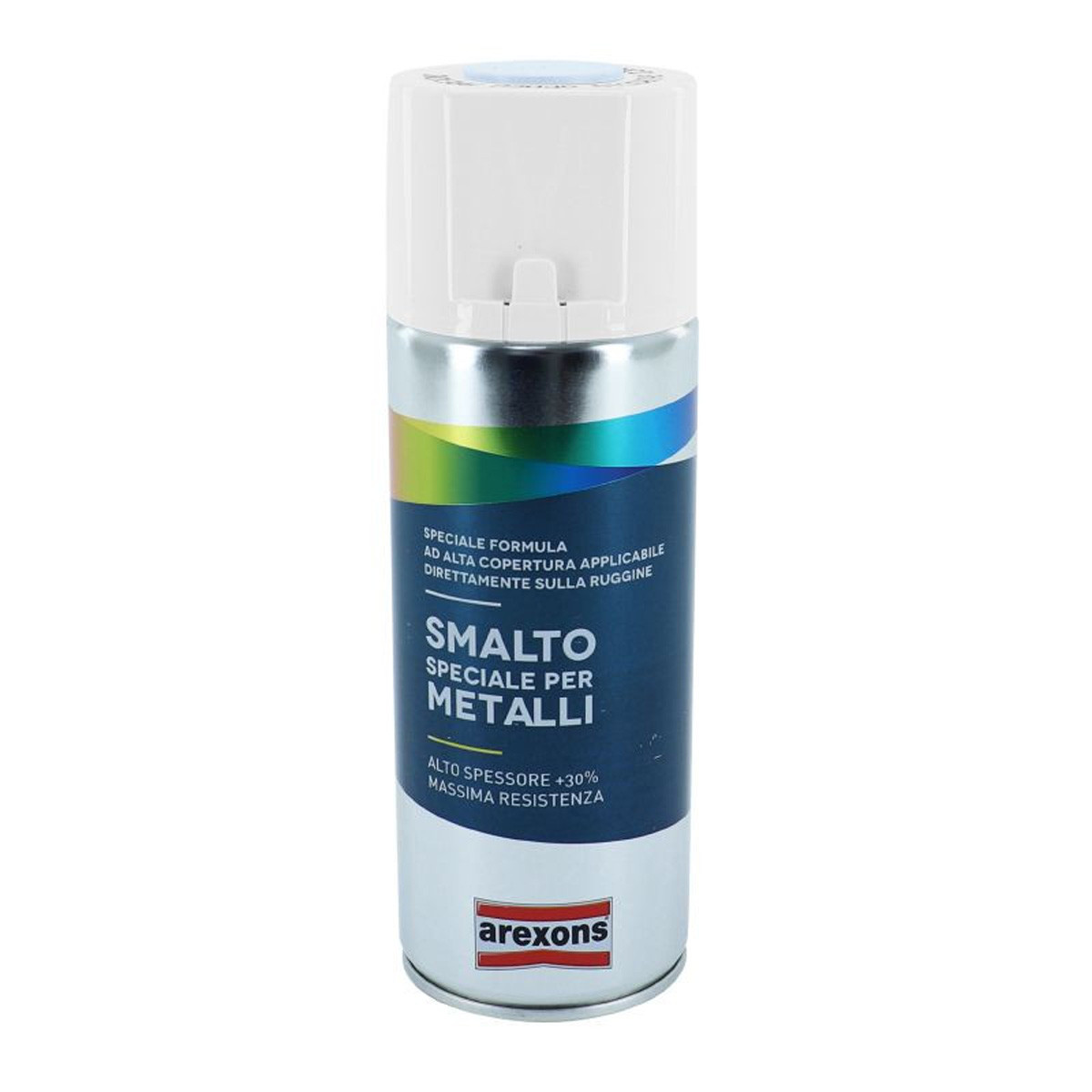 Bombe Peinture - Arexons Acrylique Smalto Spécial Métal Satin Blanc