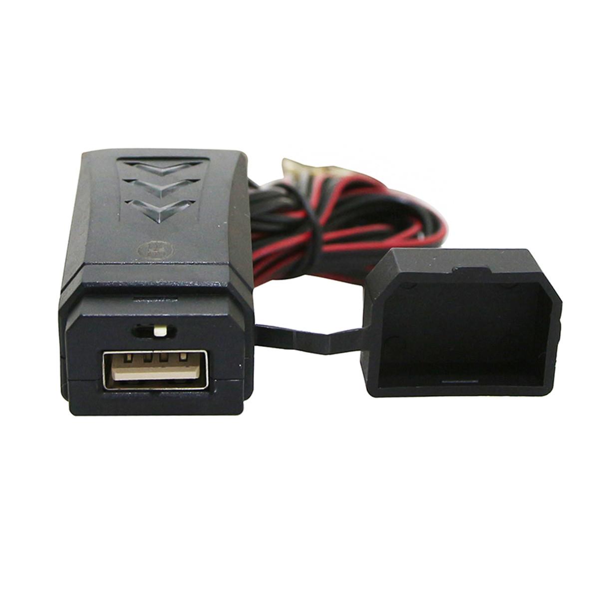 Chargeur USB sur guidon / carrosserie - 12V 2A avec interrupteur