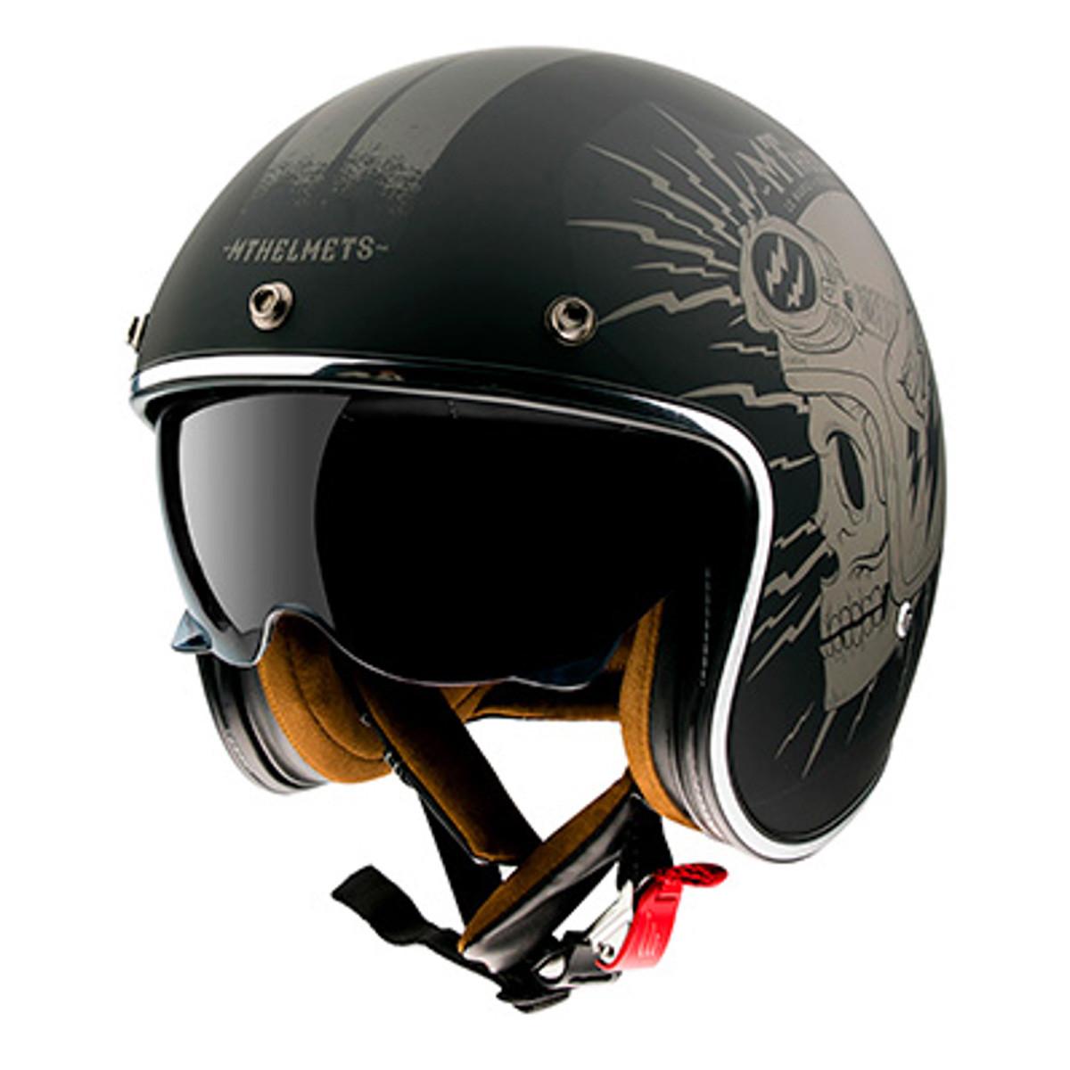 Casque Jet - MT Le Mans 2 SV Diler - Gris Mat