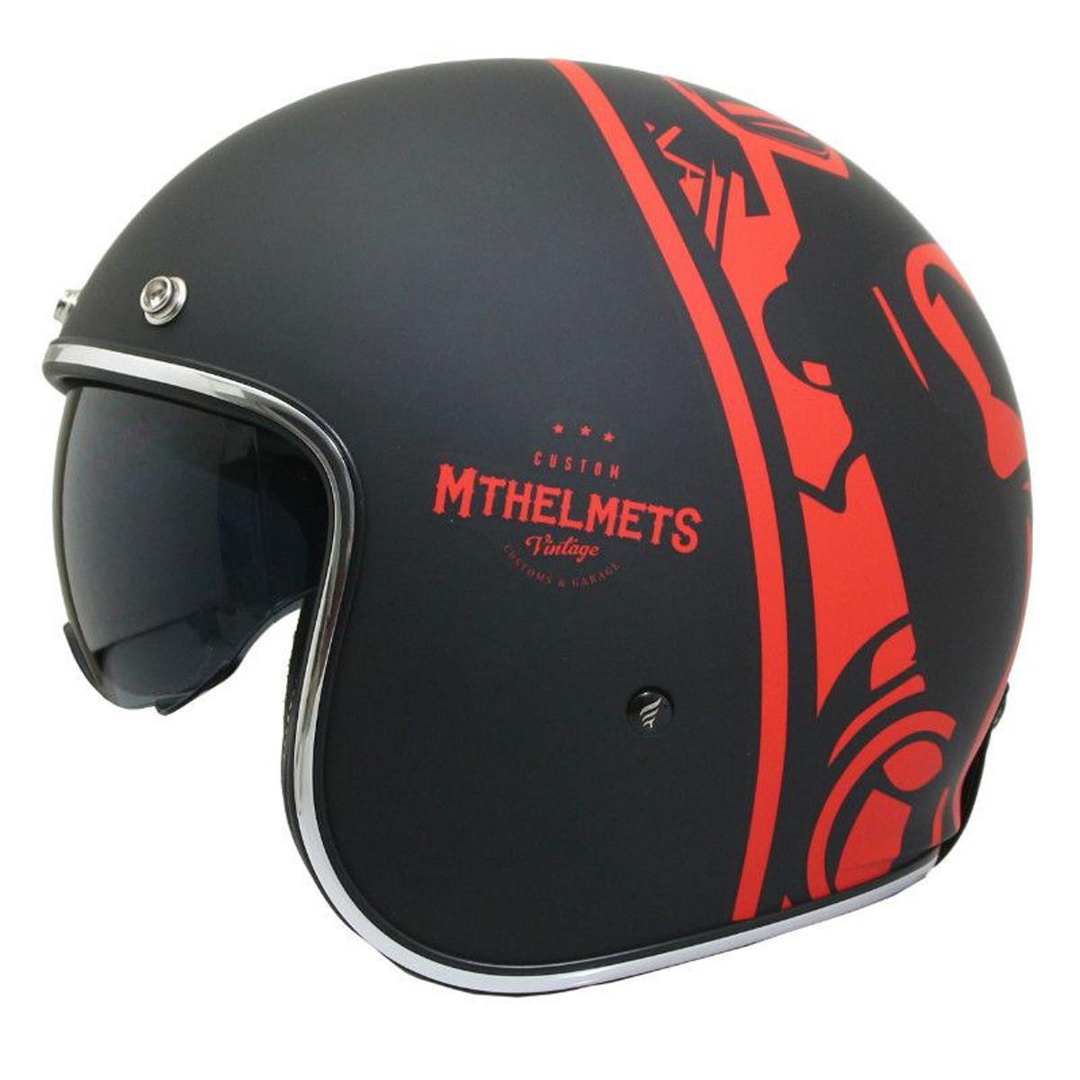 Casque Jet - MT Le Mans 2 SV Divenire - Rouge / Noir- Mat
