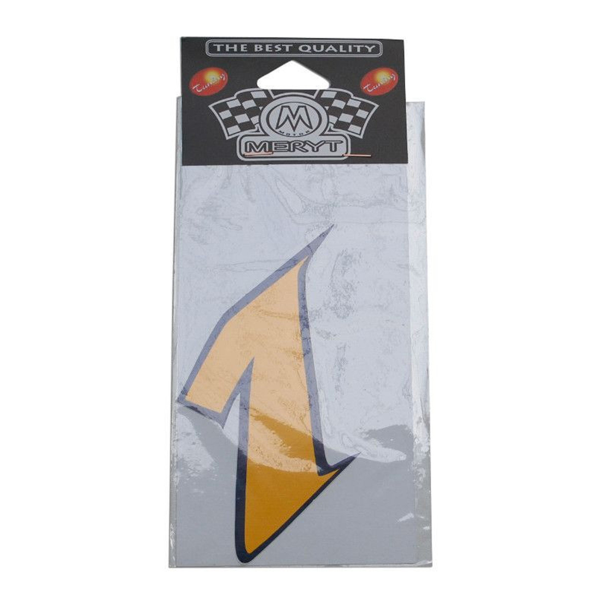 Autocollant / Sticker - MERYT Numéro 1 Jaune 9cm