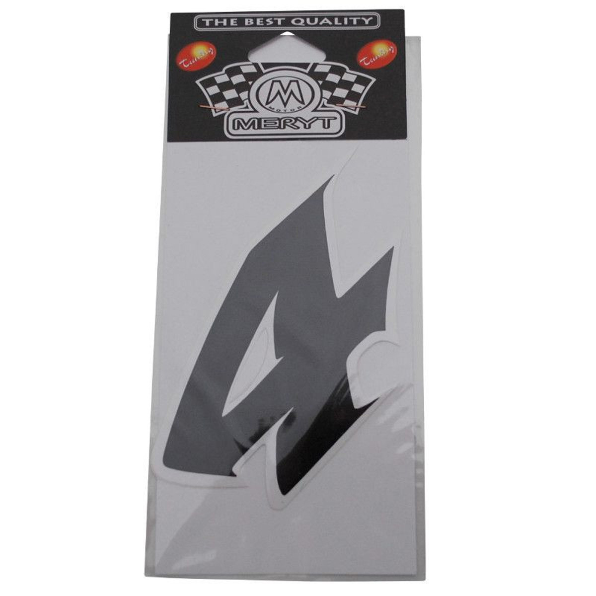 Autocollants 1 Pièces MERYT Numéro 4 Noir 9 cm