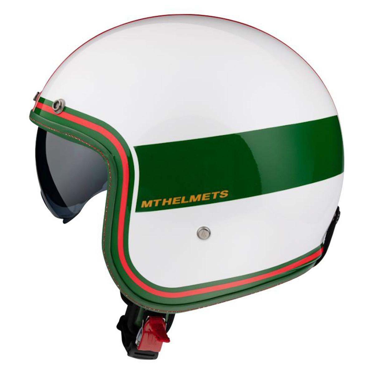 Casque Jet - MT Le Mans 2 - SV Tant Blanc / Vert Brillant