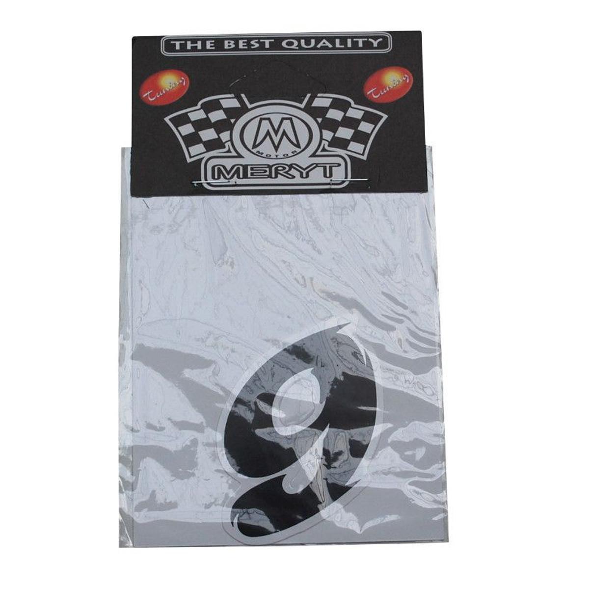 Autocollant / Sticker - MERYT - Numéro 9 - Noir - H 5.5 cm