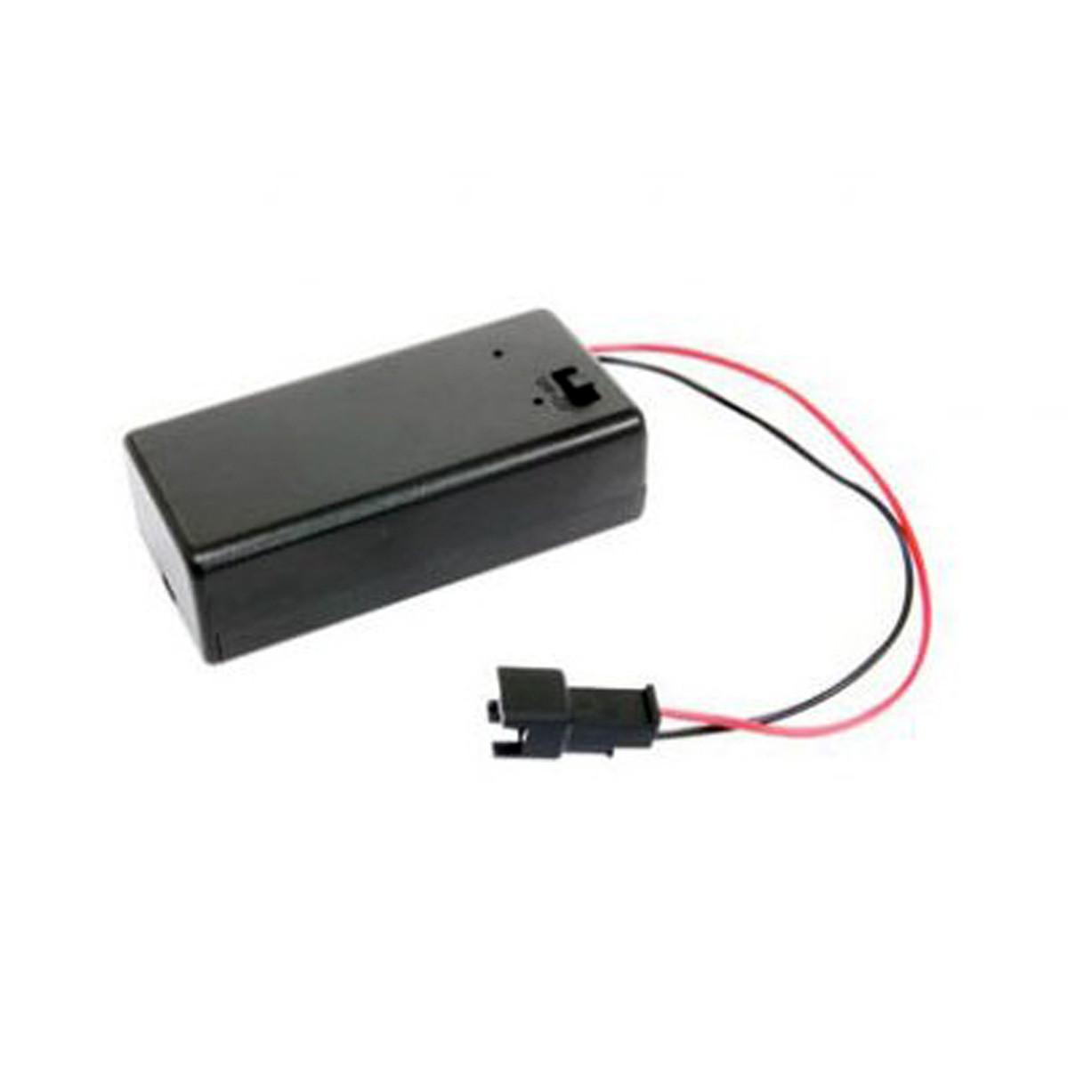 Support batterie 9V pour compteur Koso / Stage6 / Voca Connectique Noire