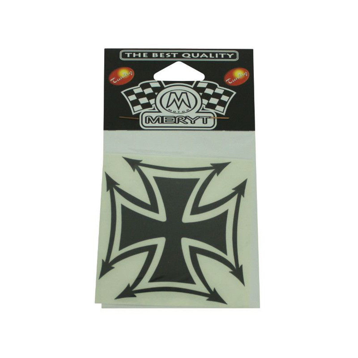 Autocollant / Sticker - MERYT Croix De Fer Noir 8.3 x 8.3cm