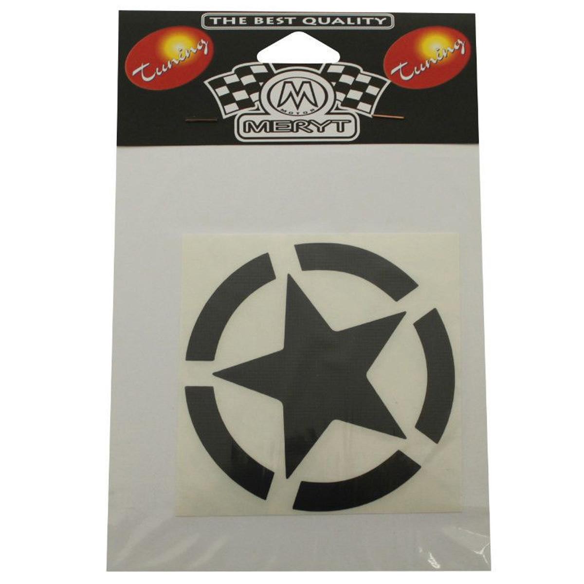 Autocollant / Sticker - MERYT Etoile Noir 10cm