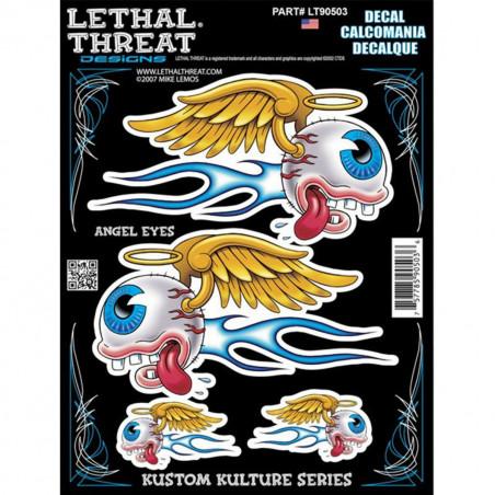Autocollant / Sticker - LETHAL THREAT Angel Eyes 15 x 20cm