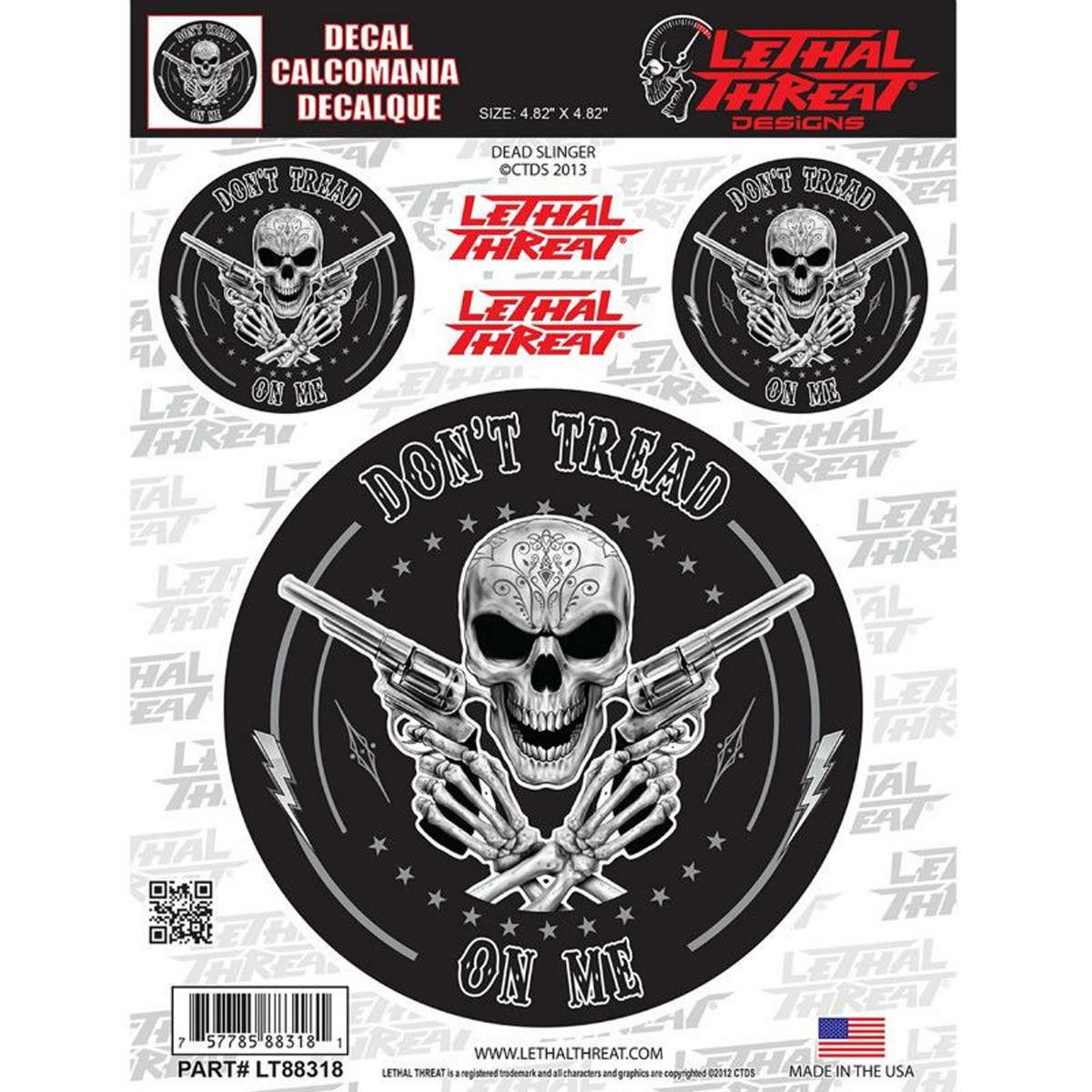 Autocollant / Sticker - LETHAL THREAT Dead Slinger 15 x 20cm