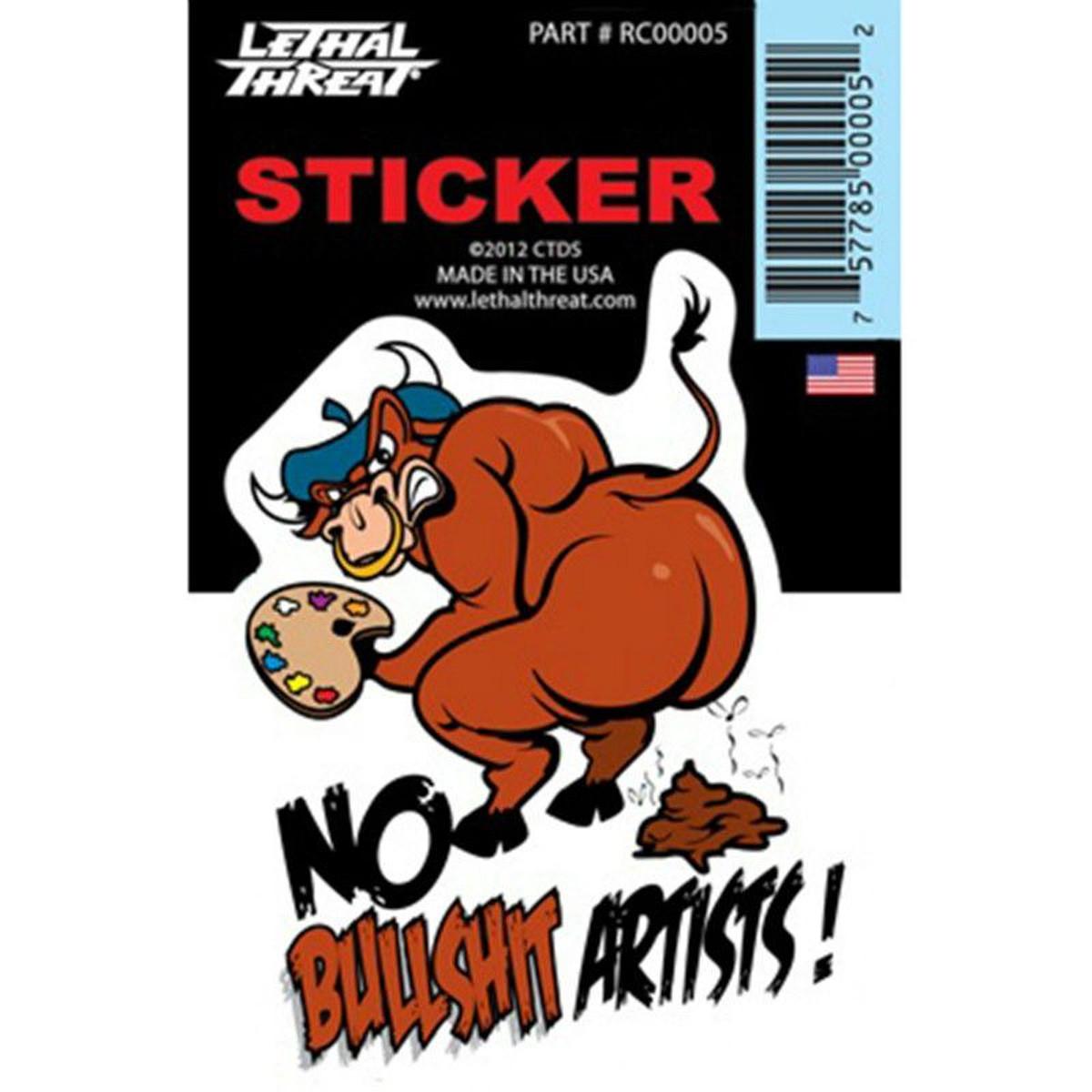 Autocollant / Sticker - LETHAL THREAT Mini Vilain Bull Shit 6 x 8cm
